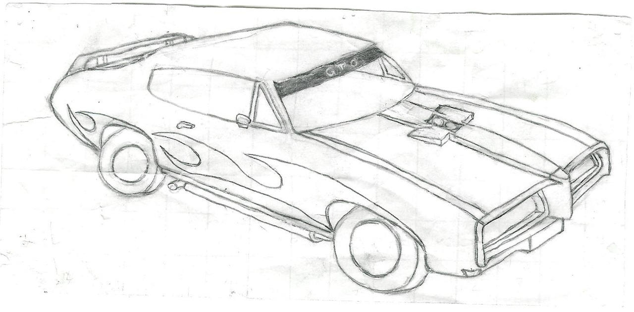 How to draw muscle cars