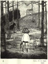 The Girl and the Log Cabin