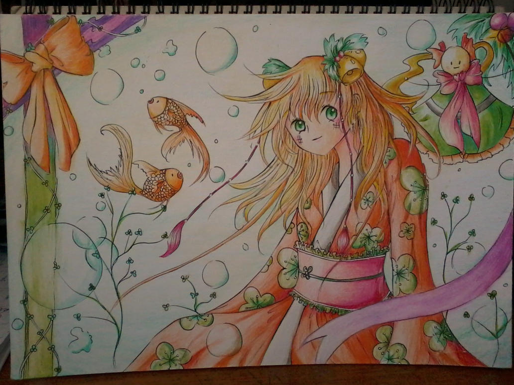 Goldfish Girl by Scenery-of-Seasons