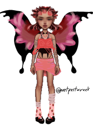 strawberry butterfly outfit