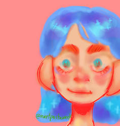 blue hair pog
