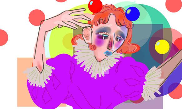 sad clown, bad hand
