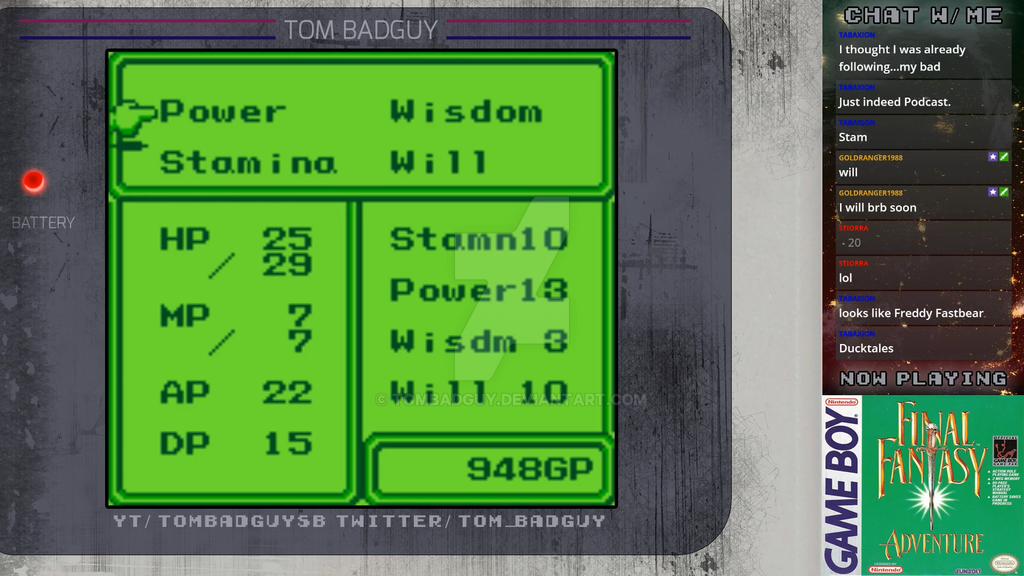 Game Boy Stream Overlay by TomBadguy