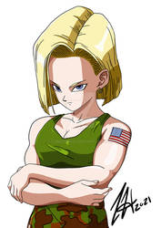 Android 18 (Guile Outfit)