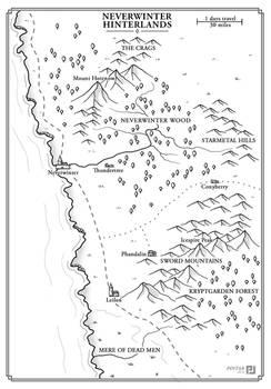 Neverwinter Hinterlands map