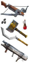 AbsoluteTabletop JonPintar Stonerift all weapons by jonpintar