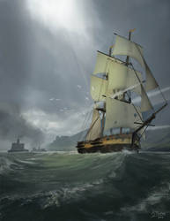 Ship Chase by jonpintar