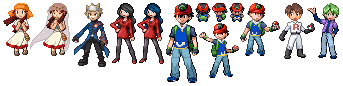 Pkmn Characters sprites by Ellucianne