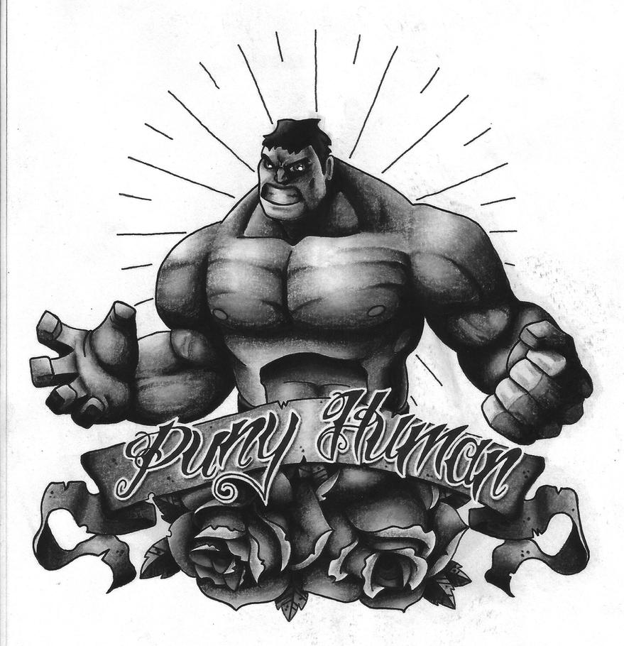 Hulk Tattoo Design Black And Grey Version 2 By Funkt Green ...