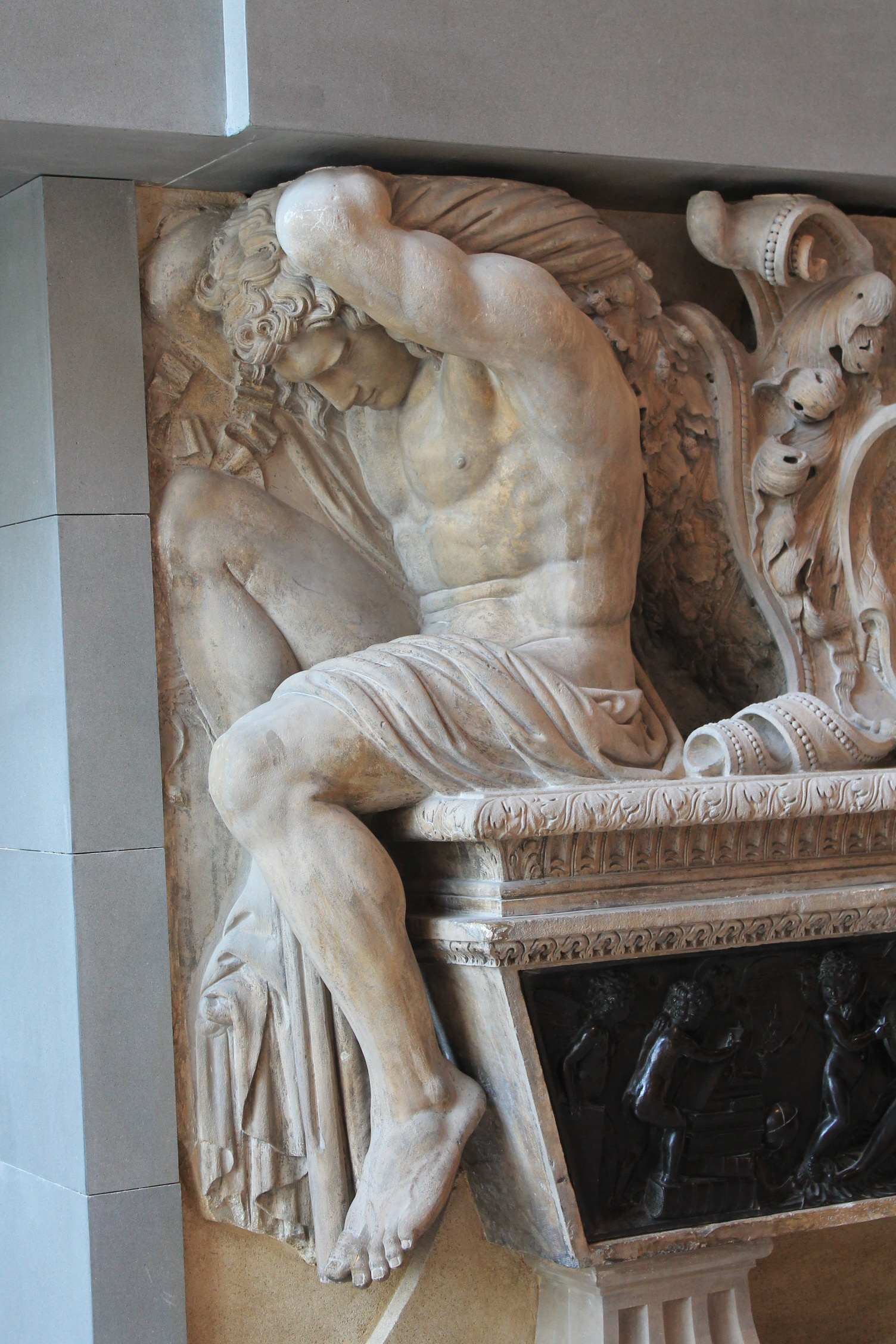 Relief carving man sitting by vinanti on deviantart