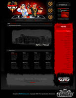 Web design: Music Battle by SOSFactory
