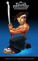 Mascot design Samurai by SOSFactory