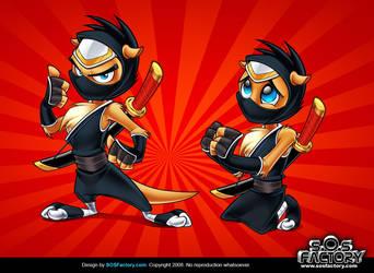 Mascot design: Otter Ninja by SOSFactory