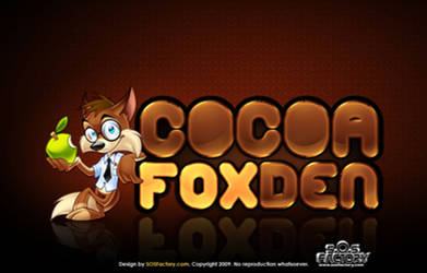 Logo design: Cocoa Fox Den by SOSFactory