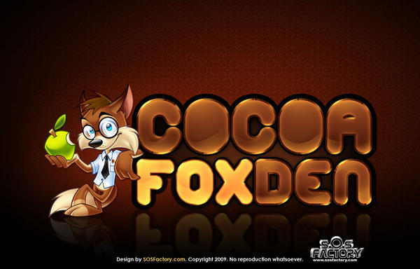 Logo design: Cocoa Fox Den by SOSFactory