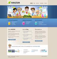 Web design: Amazium by SOSFactory