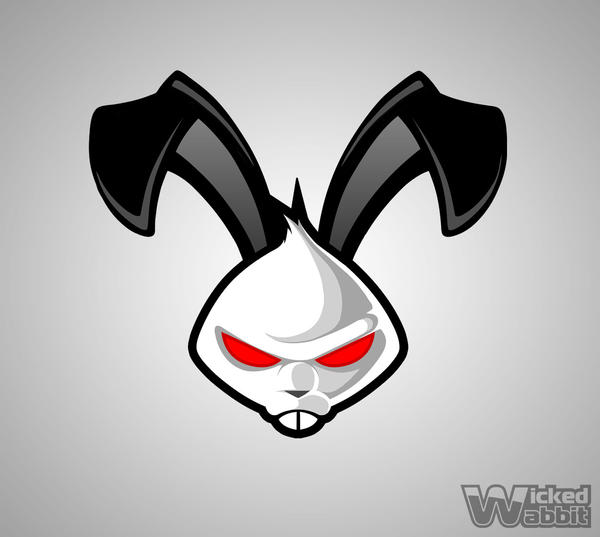 D Line Drawings Logo : Logo design wicked wabbit by sosfactory on deviantart