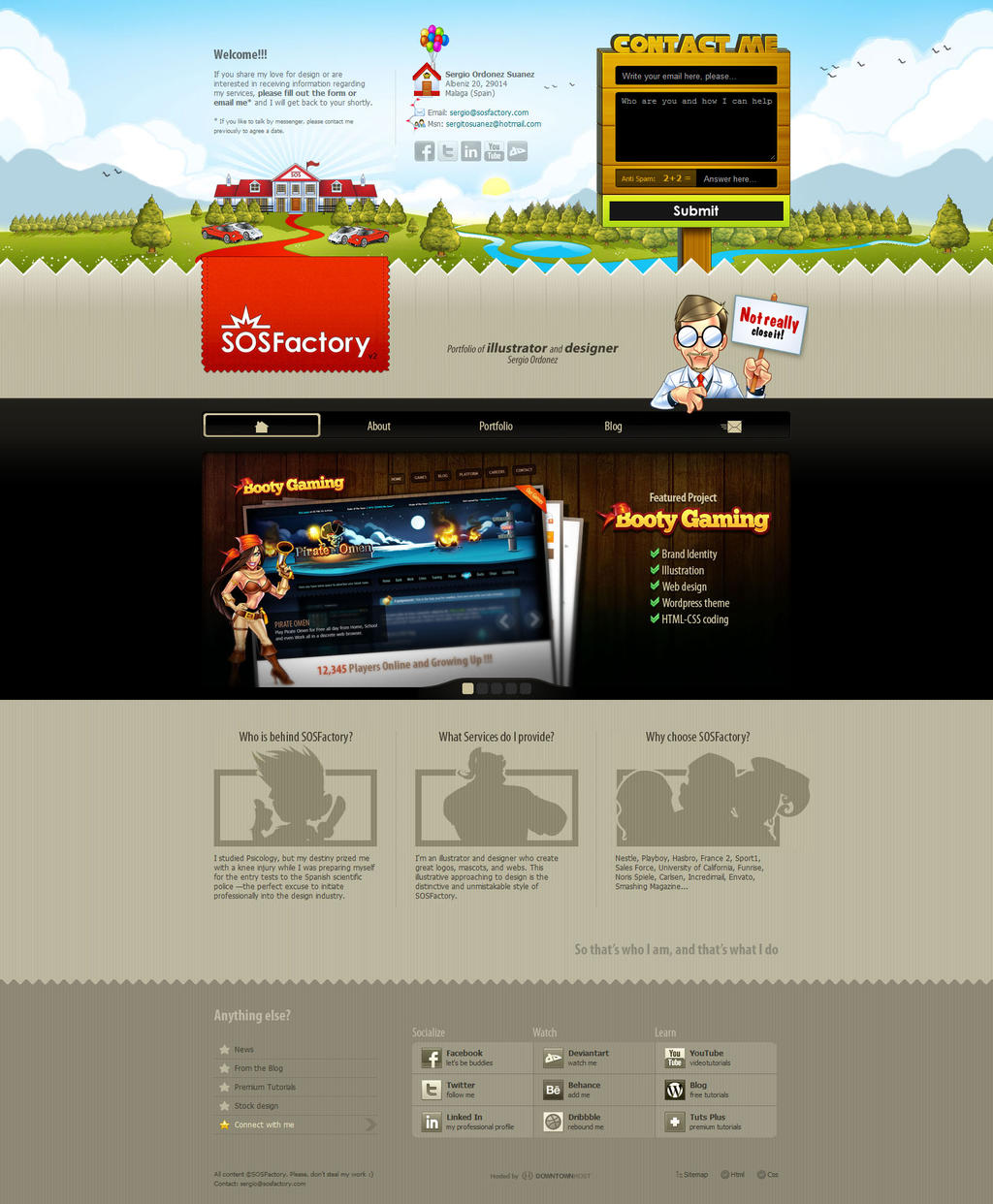 Web design: SOSFactory v2.0