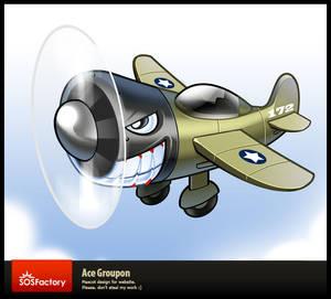 Mascot design: Ace Groupon