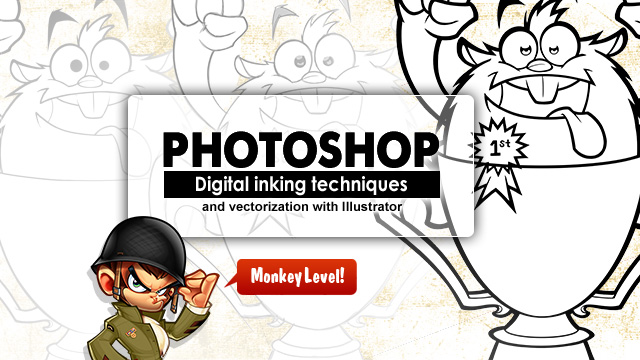 Digital inking with Photoshop by SOSFactory