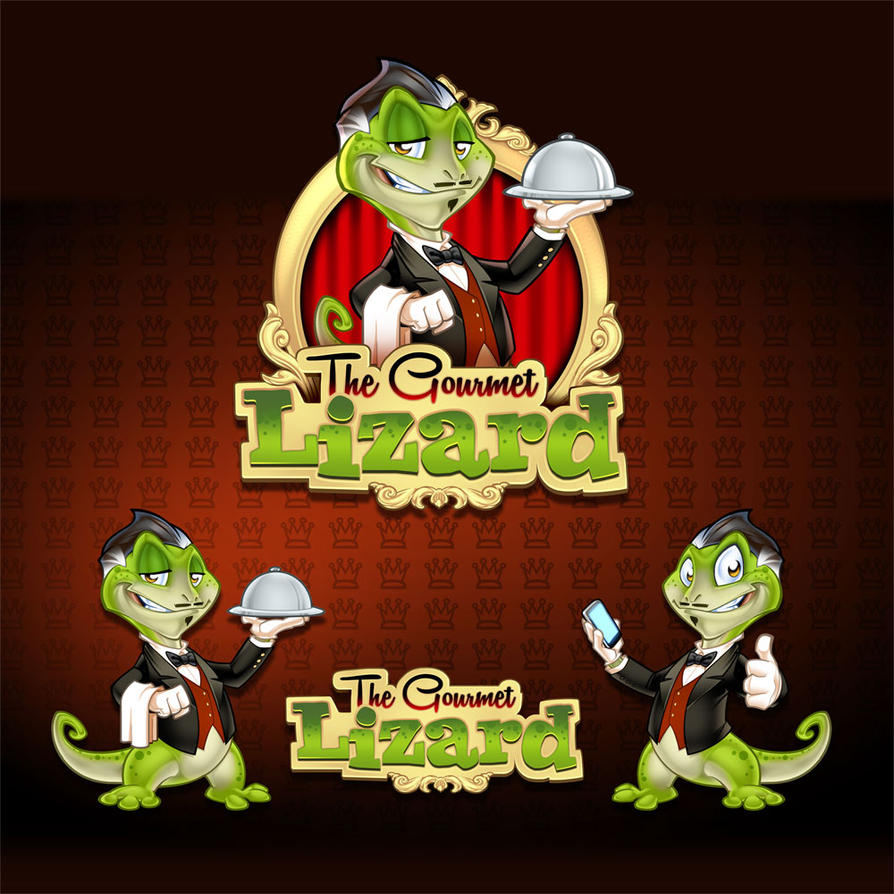 The Gourmet Lizard Mascot and logo design by SOSFactory