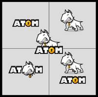 Atom logo design by SOSFactory