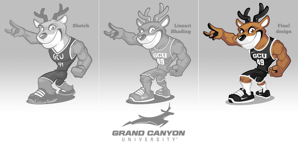 Grand Canyon University Mascot Design By Sosfactory On