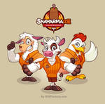 Mascot design for Shawarmaize