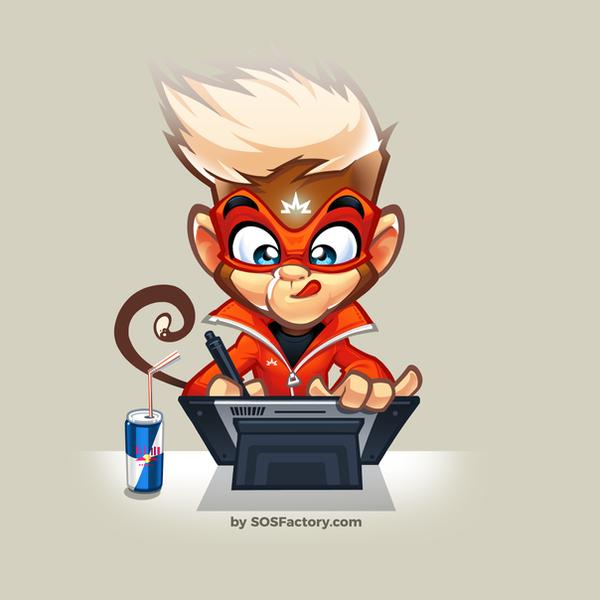 Mascot design SOSFactory v4 by SOSFactory