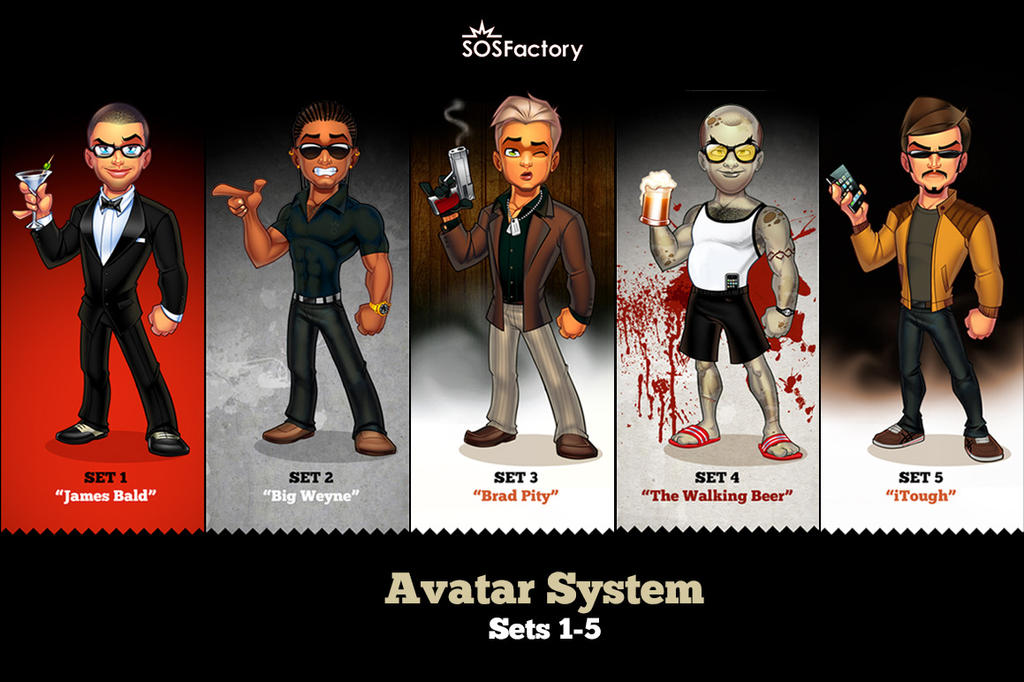 Male Avatar Creator Sets 1-5 by SOSFactory on DeviantArt