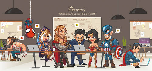 Anybody can be a hero! by SOSFactory
