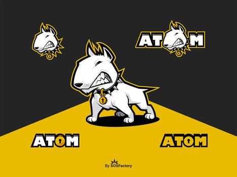 Atom mascot logo