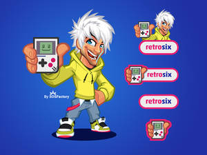 Mascot logo for Retrosix