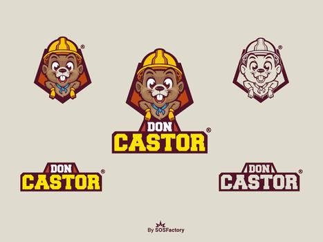 Don Castor mascot logo