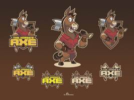 The Horse's Axe cartoon logo design