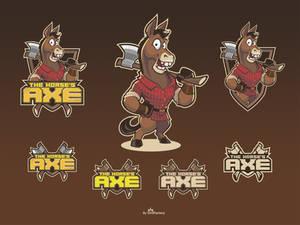The Horse's Axe cartoon logo design