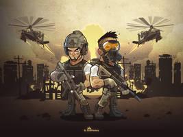New war MMORPG web based game illustration