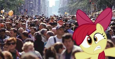 Crowded Street Large by YAMIWOLFOFDARKNESS
