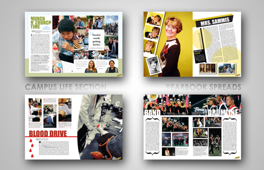 yearbook layouts by efftee - Yearbook Design Ideas