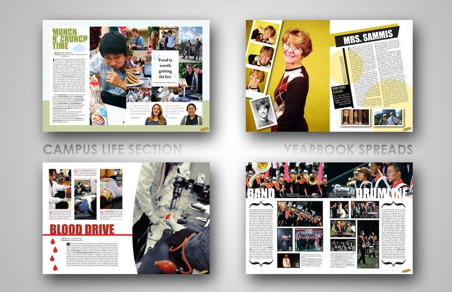 yearbook layouts by efftee - Yearbook Design Ideas