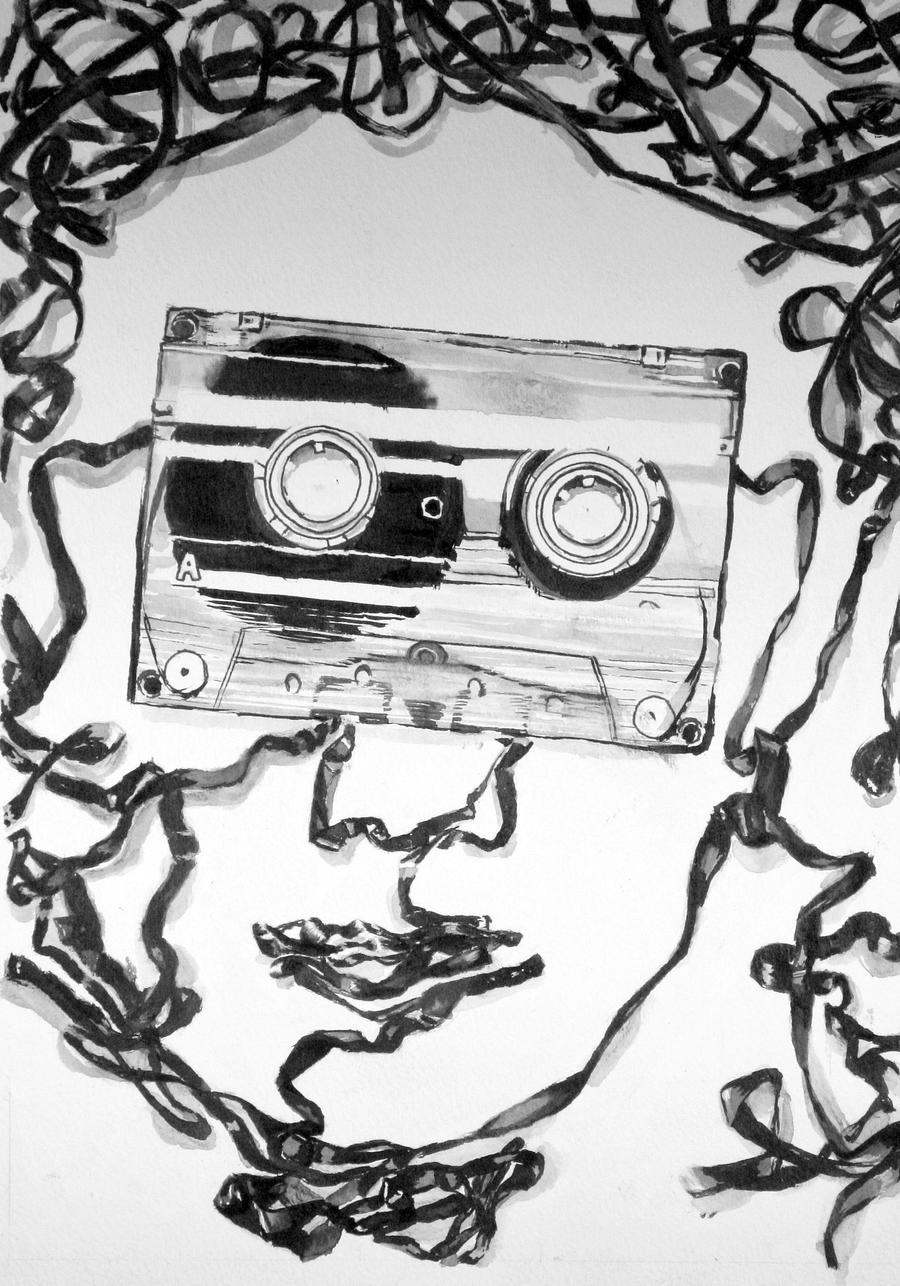Cassette tape face by emilyp123 on DeviantArt