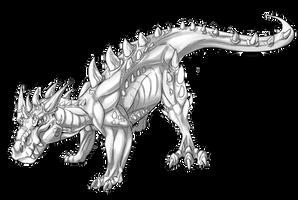 Big Land Dragon Lineart/Base With Shading F2U by PteraDragonAdopts