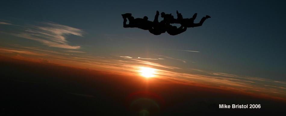 skydiving wallpaper sunset free - photo #13