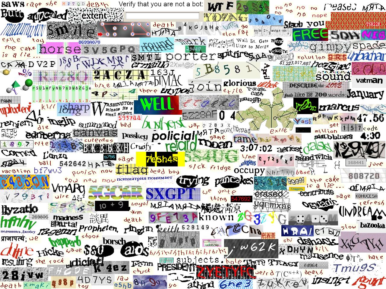 Captcha Wallpaper by JuneII