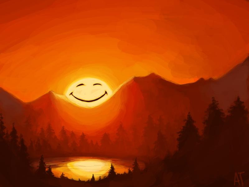 Happy Sunrise by lemur-llama on DeviantArt