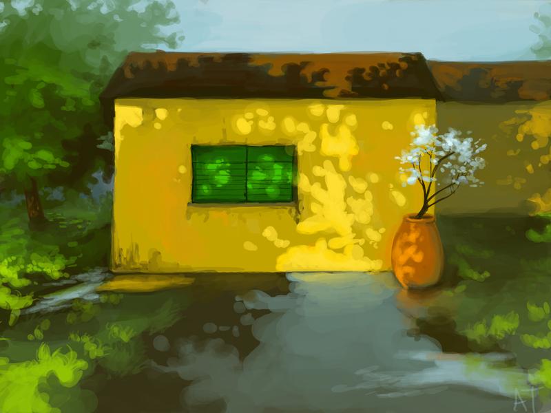 Yellow Home by lemur-llama
