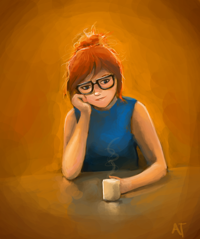 Thoughts at a Coffee Shop by lemur-llama