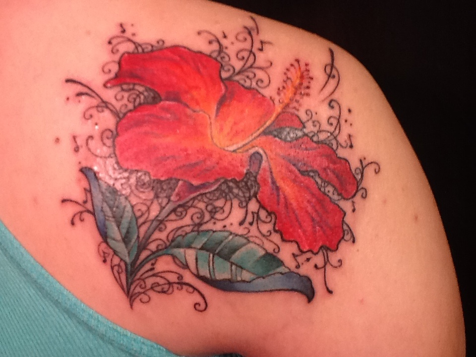 0aaa77754ef87 Hibiscus flower tattoo filigree by Zeek911 on DeviantArt