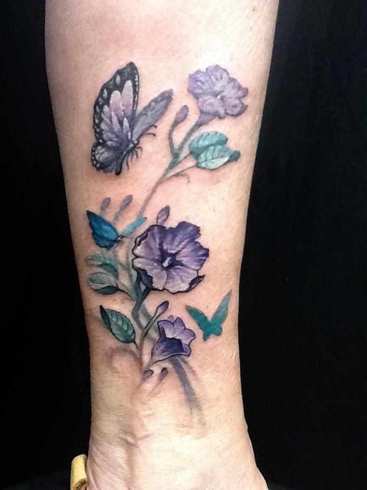 Flower butterfly ankle tattoo cute Nate rogers by Zeek911 on DeviantArt