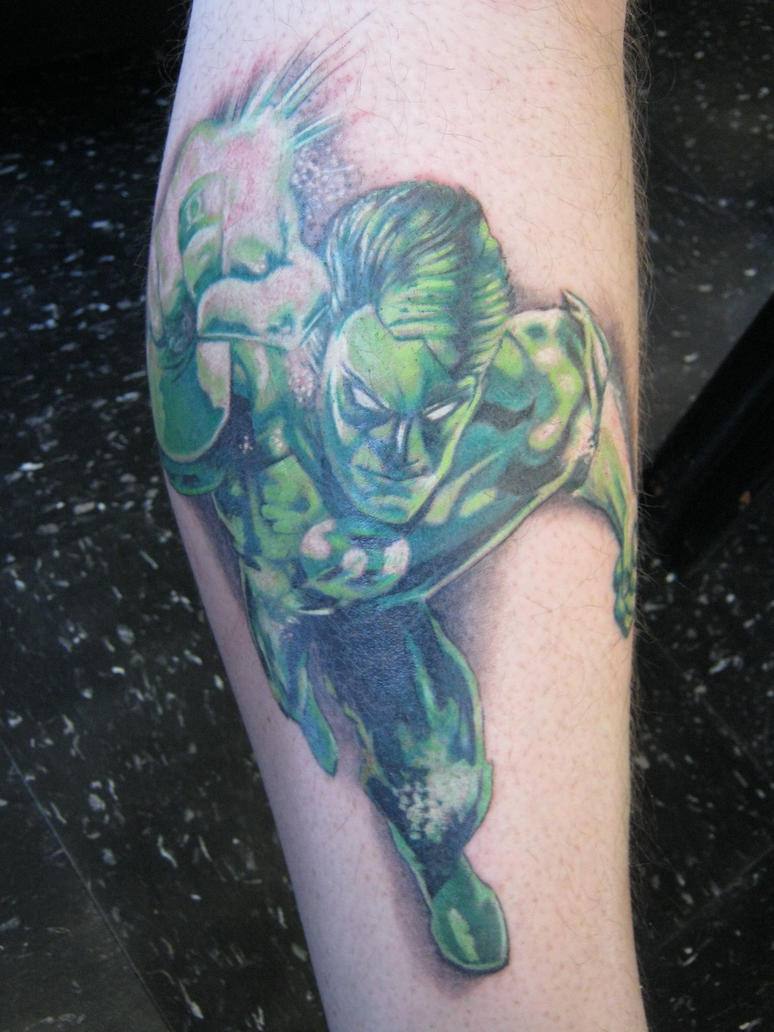 Green lantern tattoo - photo#20